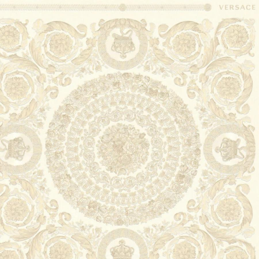 Versace Heritage Beige/Grey Wallpaper Sample - 37055-1 Versace Heritage Beige/Grey Wallpaper Sample - 37055-1