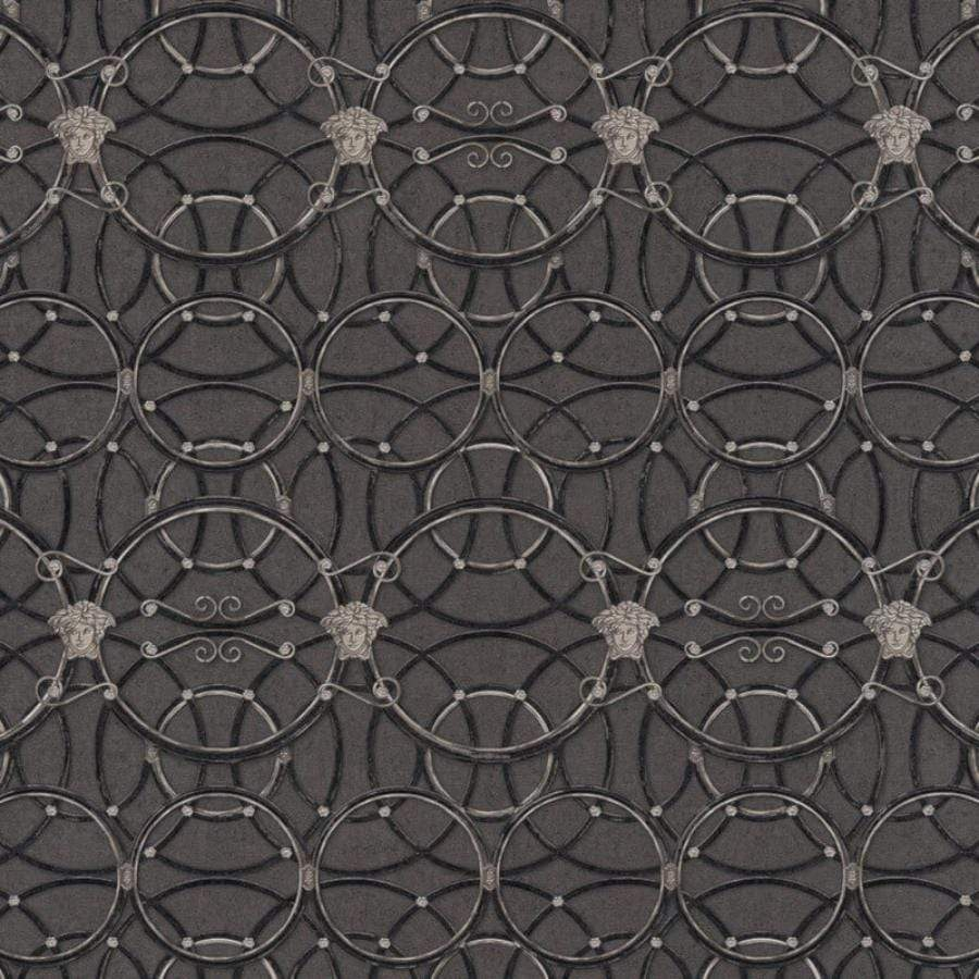Versace La Scala Del Palazzo Grey Metallic Wallpaper - 37049-5 Versace La Scala Del Palazzo Grey Metallic Wallpaper - 37049-5
