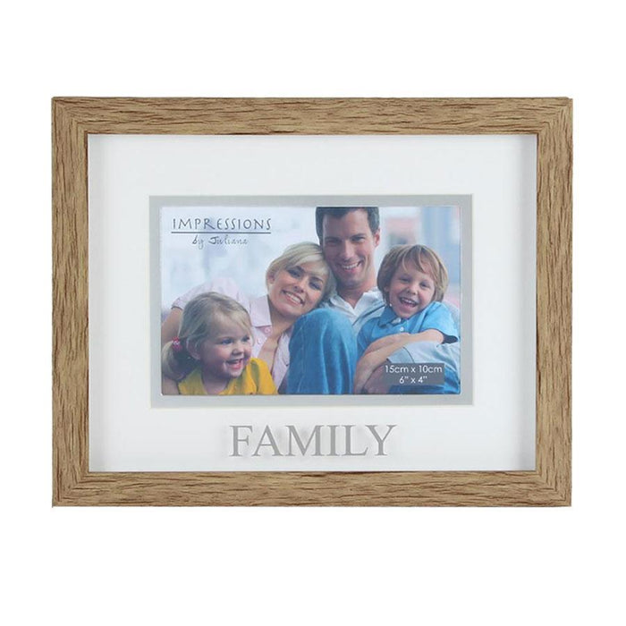 "Widdop 6x4"" Natural Wood Effect Frame Family"