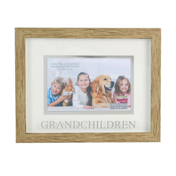 "Widdop 6x4"" Natural Wood Effect Frame Grandchildren"
