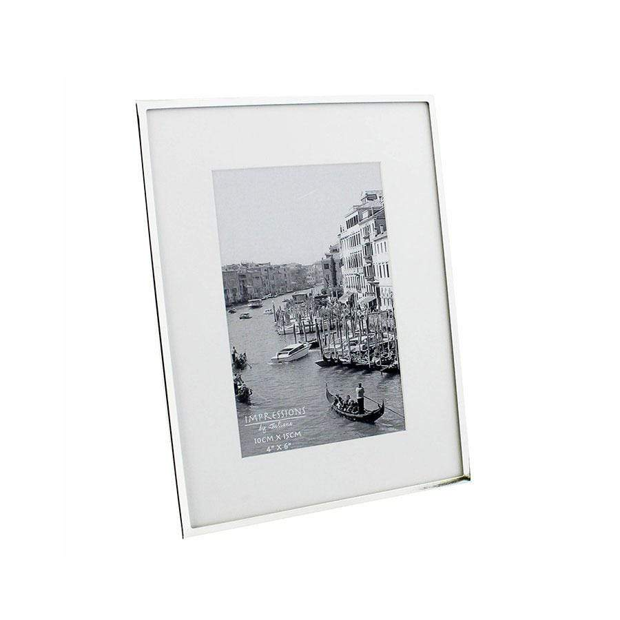 Widdop Bingham Impressions Silver White Picture Frame