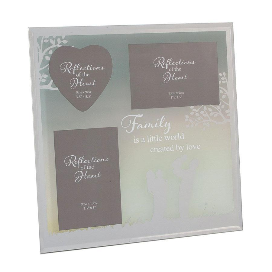 Widdop Reflections Of The Heart Collage Photo Frame Family