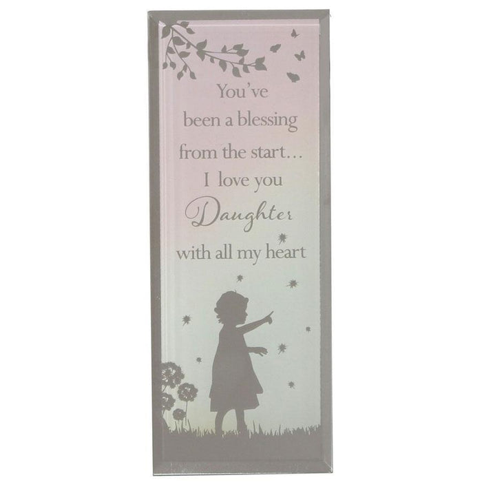 Widdop Reflections Of The Heart Standing Plaque Daughter