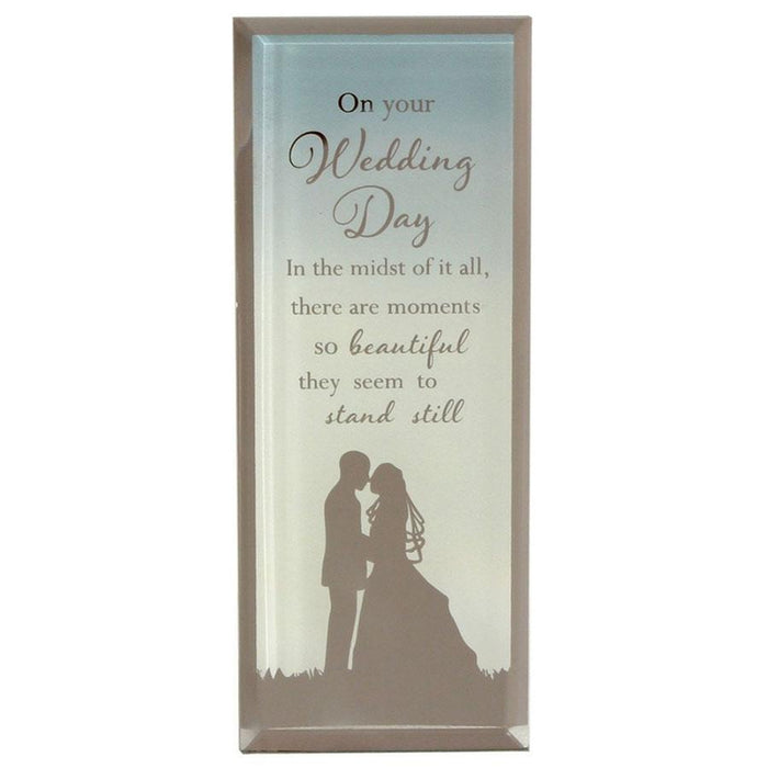 Widdop Reflections Of The Heart Standing Plaque Wedding Day