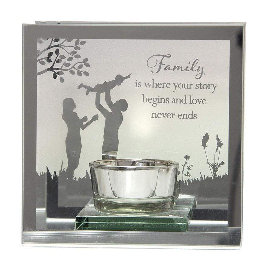 Widdop Reflections Of The Heart Tea Light Holder Family