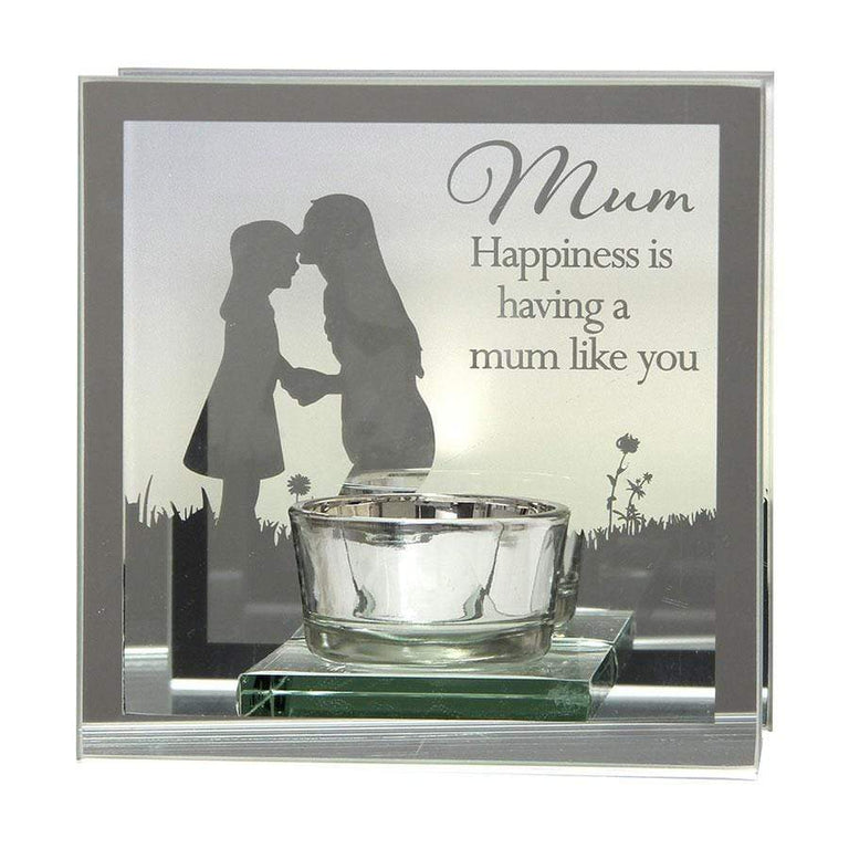 Widdop Reflections Of The Heart Tea Light Holder Mum
