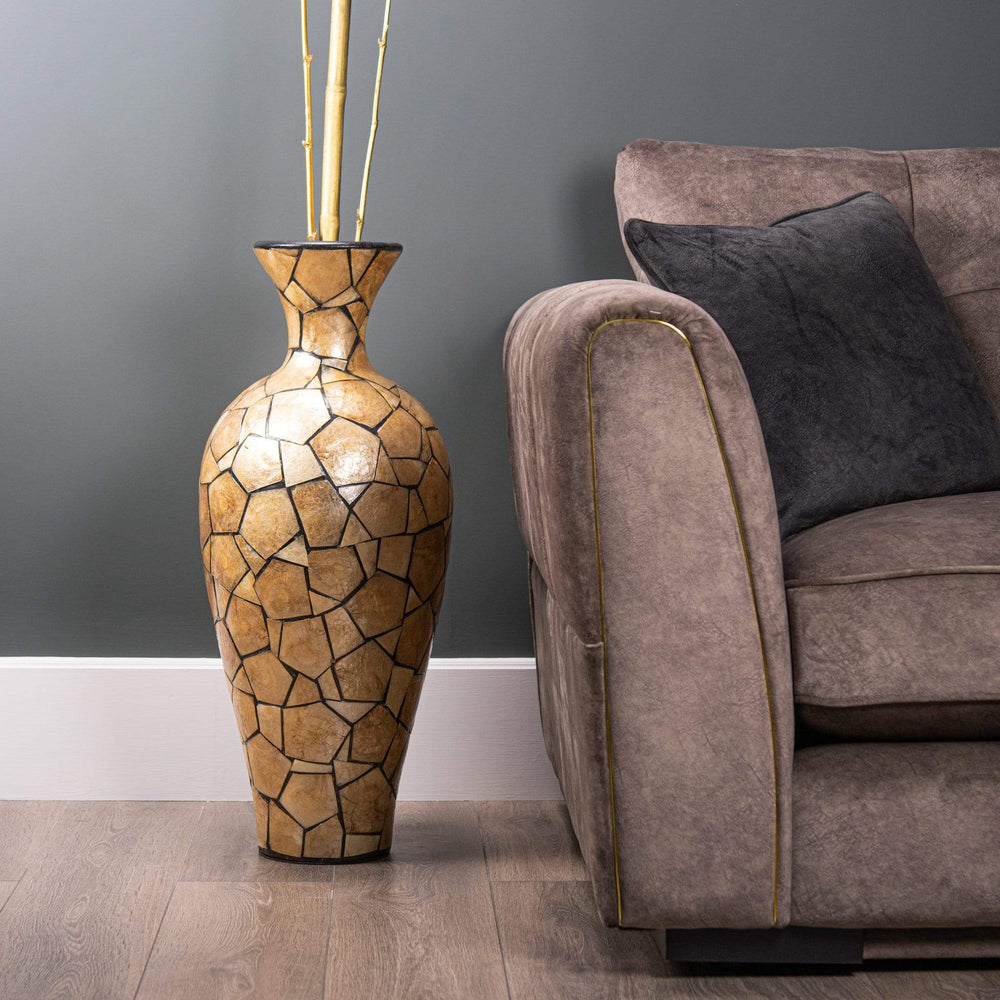Wilde Java large Gold Shell Vase