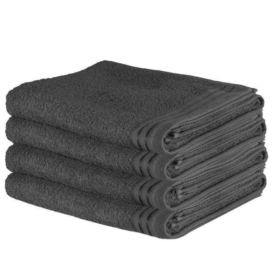 Wilsford Charcoal Egyptian Cotton Bath Sheet 4 Pack Bale