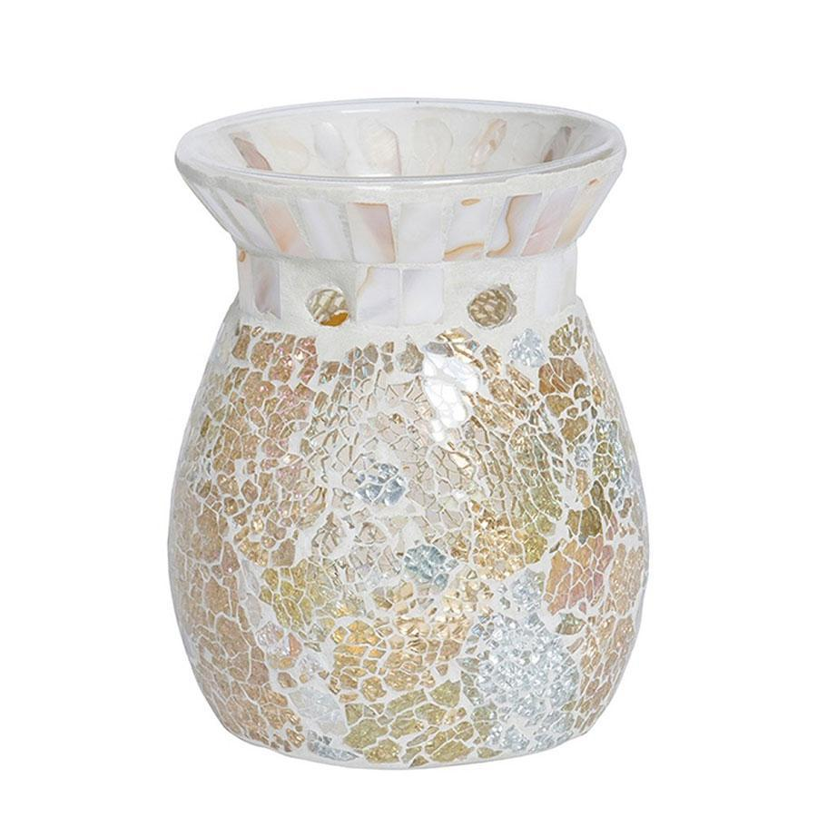Yankee Gold and Pearl Crackle Mosaic Melt Warmer