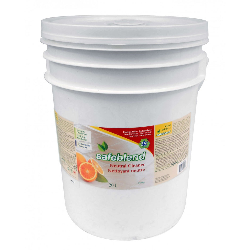NETTOYANT NEUTRE CONCENTRÉ 20L (4,4 GAL) - ORANGE - SAFEBLEND