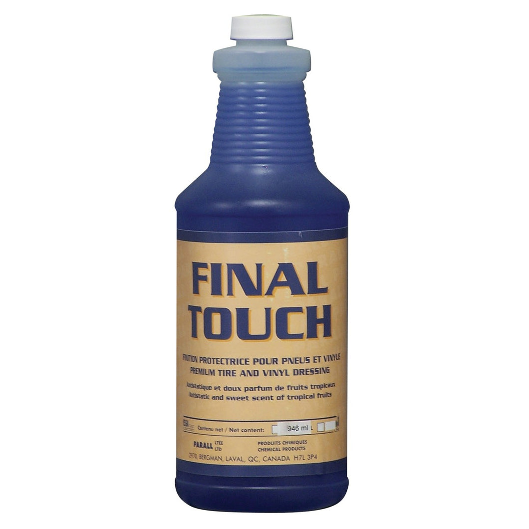 Finition protectrice pour pneu et vinyle - antistatique -  33,3 oz (946 ml) - Final Touch