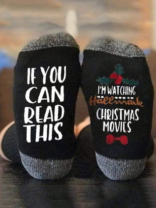 If You Can Ready This Hallmark Christmas Movies Socks