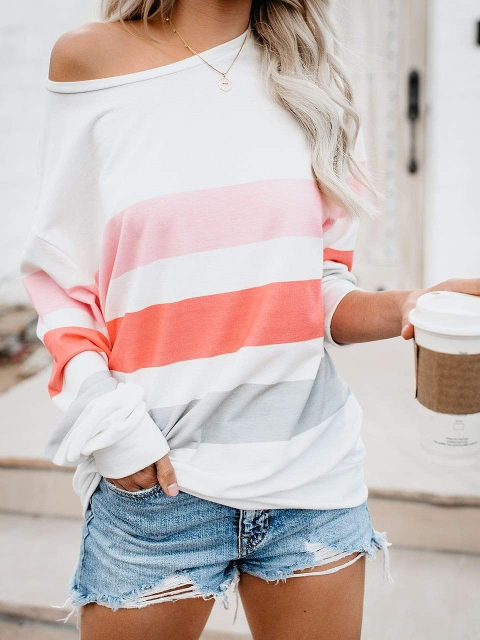 Loose Striped Pullover