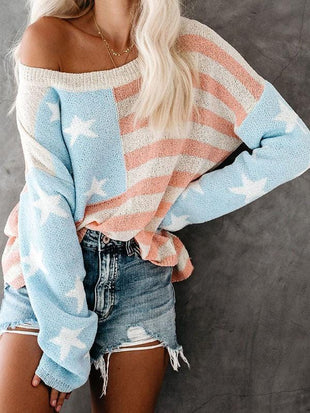 Stars & Stripes Relaxed Knit Sweaters