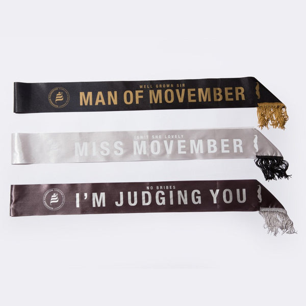 Movember Sash Set