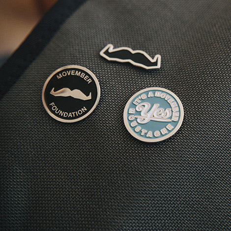 Movember Foundation Enamel Pin Set
