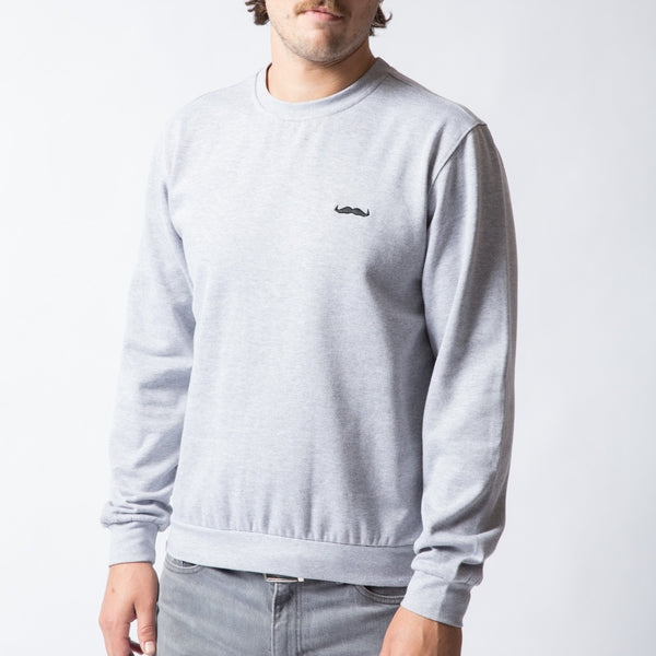 Buy the official Movember Foundation grey crewneck with a moustache online | Movember.com