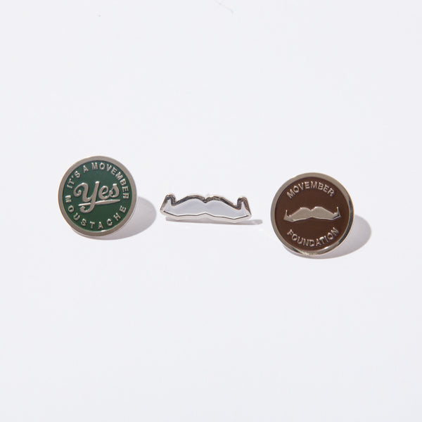 Men's Health Awareness Pin Set