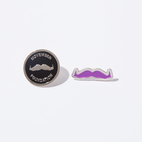 Buy the official Movember Foundation moustache testicular cancer awareness pin set online | Movember.com