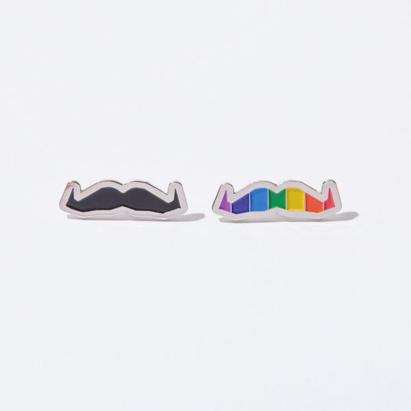Buy the official Movember Foundation moustache pride pin online | Movember.com