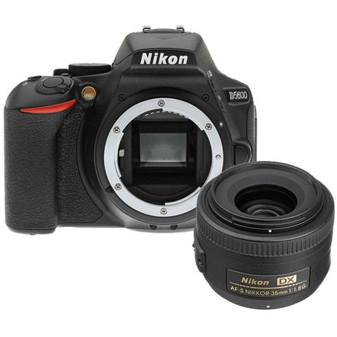 Nikon D5600 24.2MP Digital SLR Camera with AF-S DX NIKKOR 35mm f/1.8G Lens