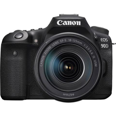 Canon EOS 90D 32.5MP APS-C Built-in Wi-Fi Digital SLR with 18-135mm Lens