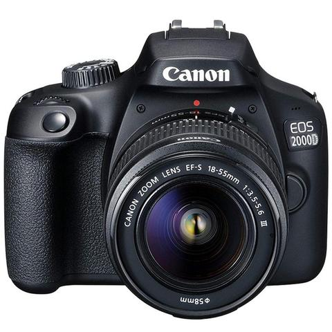 Canon EOS 2000D / Rebel T7 24.1MP CMOS 1080p DSLR Camera + EF-S 18-55mm f/3.5-5.6 Lens