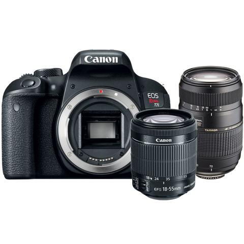 Canon EOS Rebel T7i 24.2MP DSLR Camera with 18-55mm IS STM Lens and 70-300mm Lens