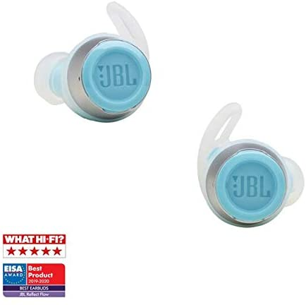 Roll over image to zoom in JBL Reflect Flow Truly Wireless Sport in-Ear Headphones Bundle with gSport Deluxe Hardshell Case (Teal)
