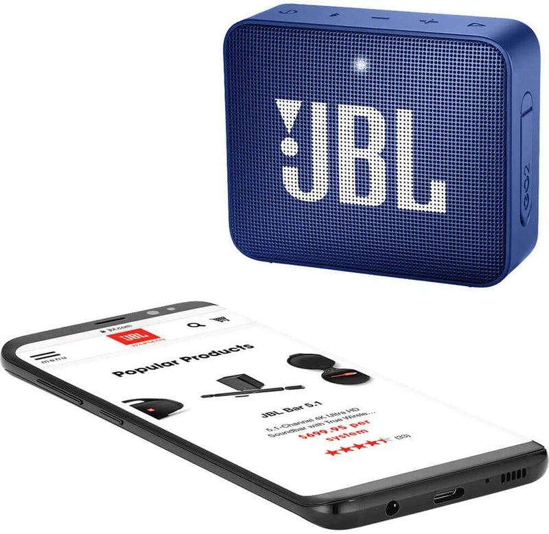 JBL GO2 - Waterproof Ultra Portable Bluetooth Speaker - Blue