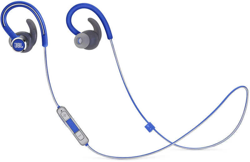 JBL Reflect Contour 2.0 - In-Ear Wireless Sport Headphone with 3-Button Mic/Remote - Blue