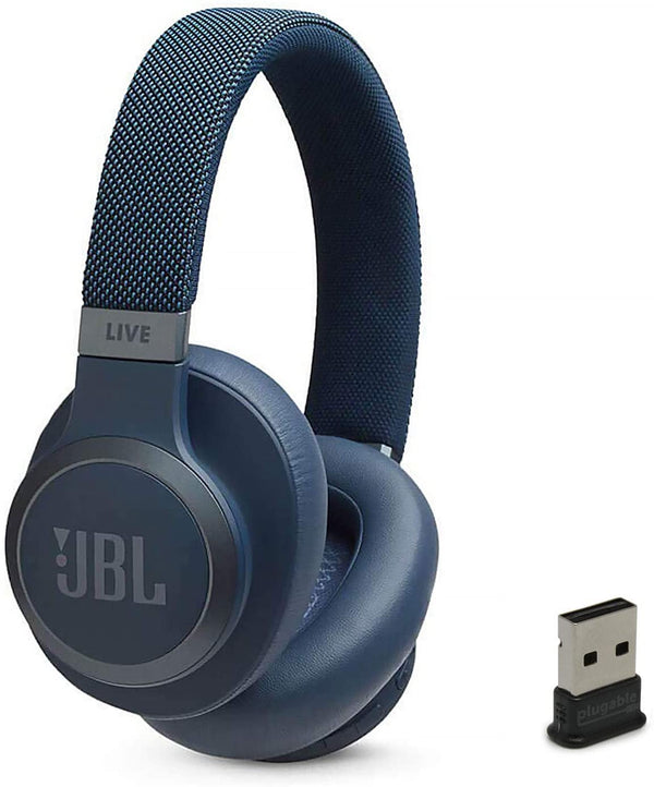 JBL - LIVE 650BTNC Wireless Noise Cancelling Over-the-Ear Headphones - Blue