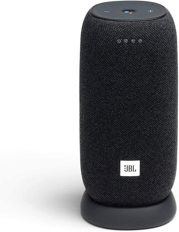 JBL - Link Smart Portable Wi-Fi and Bluetooth Speaker with Google Assistant - Gray