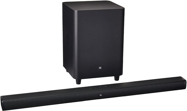 "JBL - 2.1-Channel 300W Soundbar System with 6-1/2"" Wireless Subwoofer - Black"