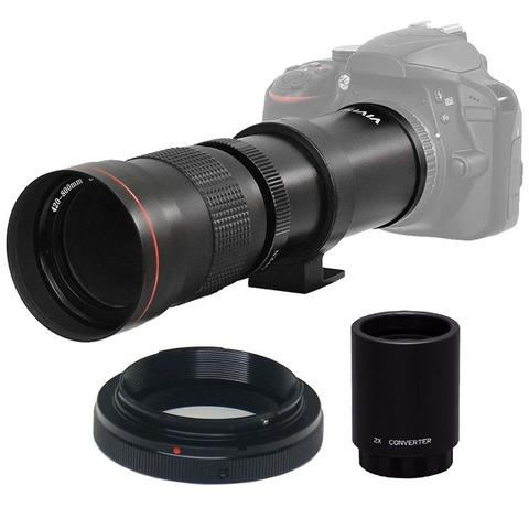 Vivitar 420-800mm f/8.3 Telephoto Zoom Lens for Nikon D500