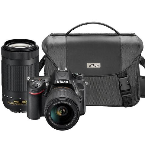 Nikon D7200 24.2MP Wi-Fi D-SLR Camera with Nikon 18-55mm, 70-300mm Lens and Camera Case