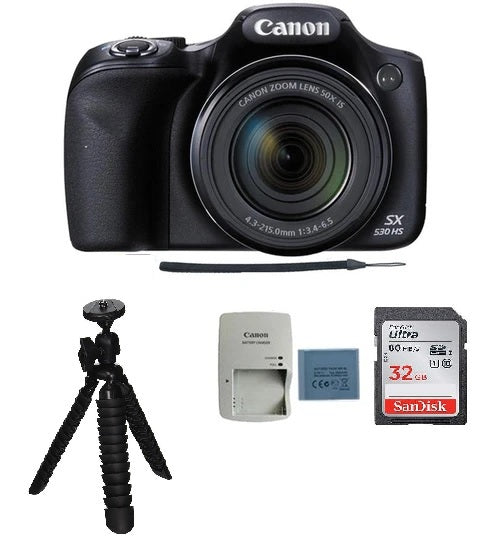 Canon PowerShot SX530 HS 16MP Digital Camera with Accessories