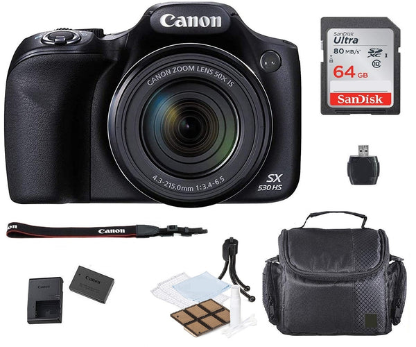 Canon PowerShot SX530 HS Digital Camera with Top Accessory Kit