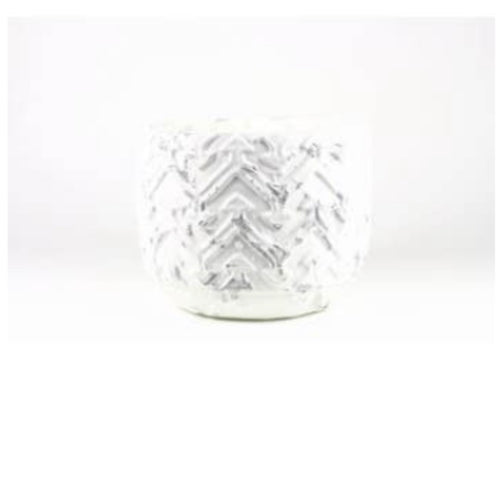White distressed candle