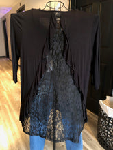 Load image into Gallery viewer, Black top with lace back detail