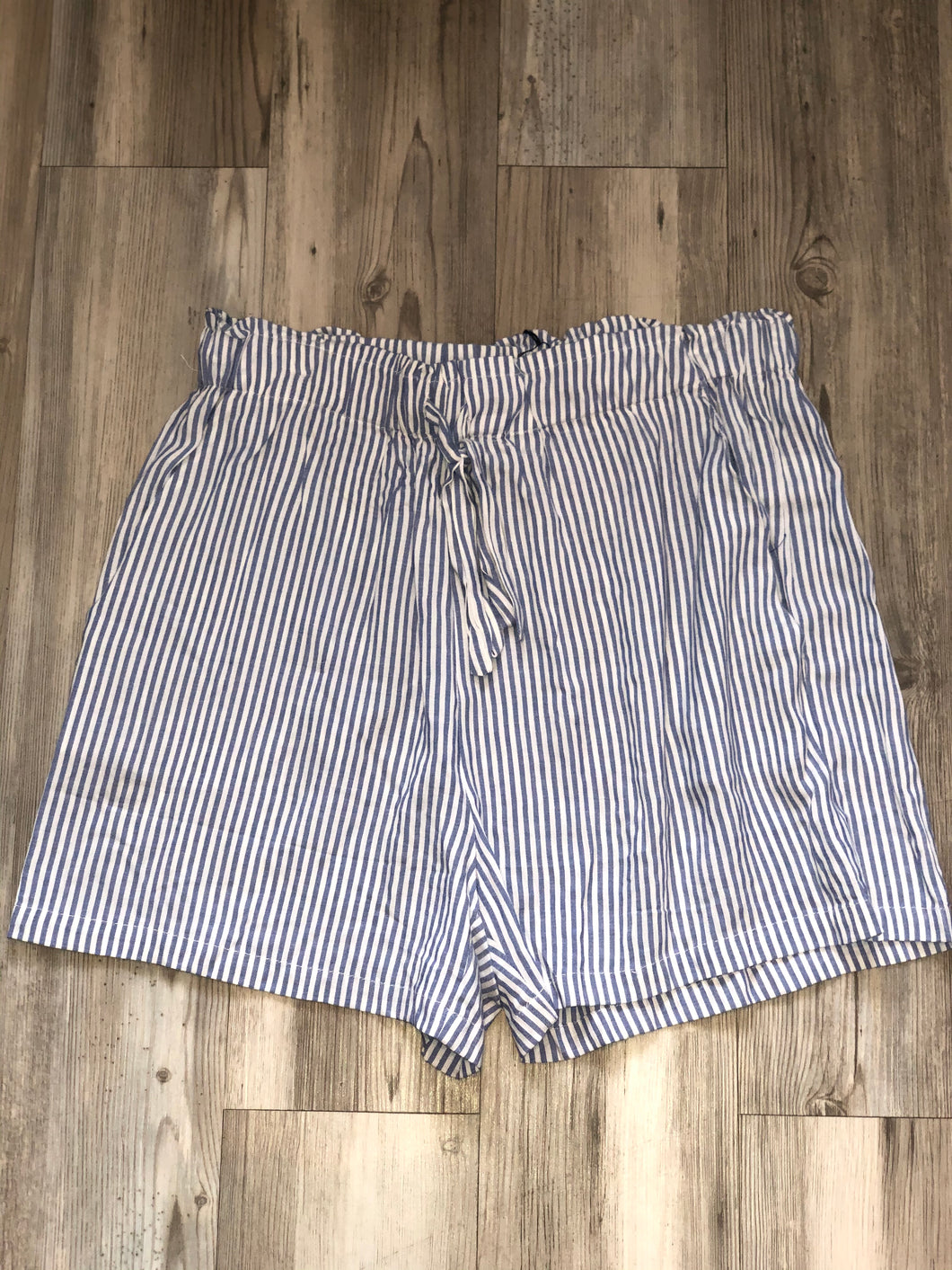 Blue/white stripped shorts