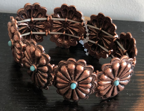 Copper/Teal bracelet