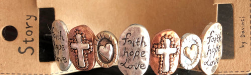 Faith, Hope, Love Bracelet