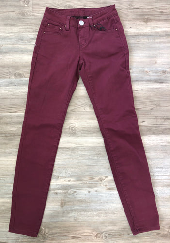 Burgundy Color Denim Pants