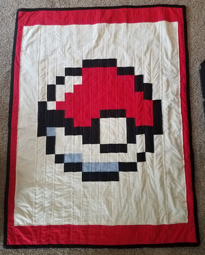 Stuff I've Made: Pokeball Quilt