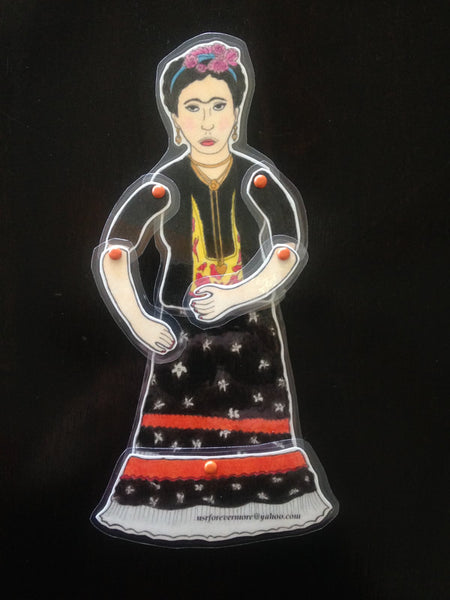 Blog Block Party: DIY Frida Paper Puppet by Lizette Guzman