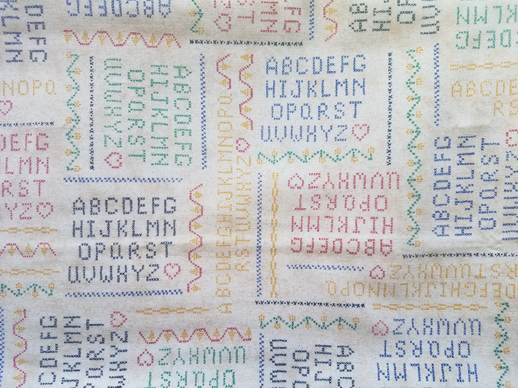 Country Quilt Kitsch Alphabet Set of 2 Odd Cuts