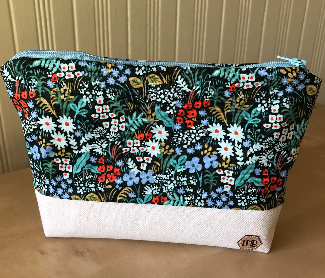 Rifle Paper Floral Zipper