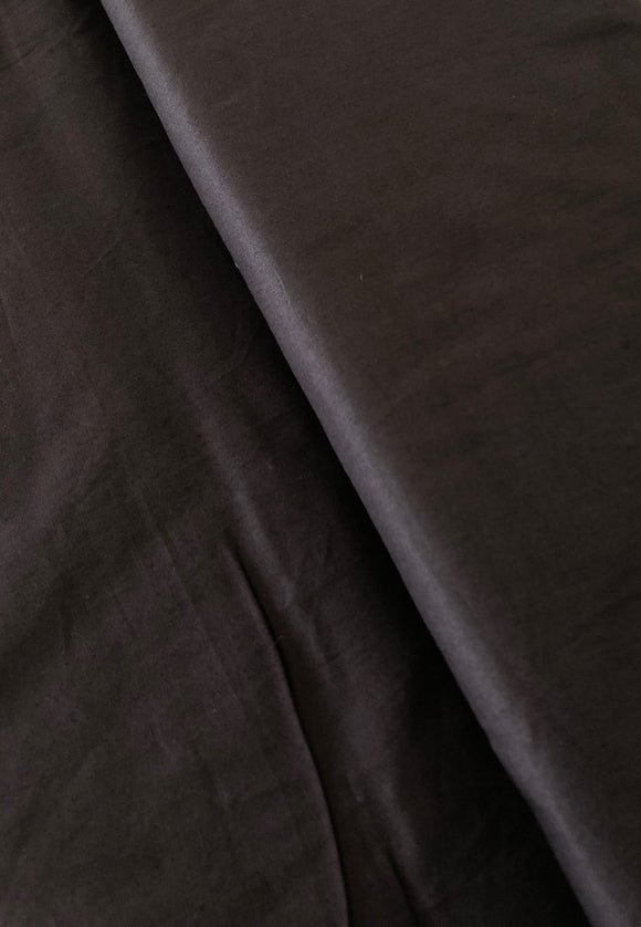 Soft Black Organic Cotton Poplin
