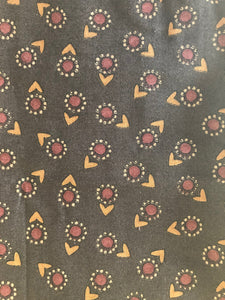 Brown Floral Pattern Fabric